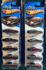Hot Wheels 2013  226 250 HW Showroom Then And Now 10 CAMARO Black Lot of 10