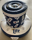 NIB MILLER LITE INFLATABLE POOL FLOAT COOLER WITH SIX CUP HOLDERS