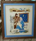 Nativity Needlepoint Canvas Completed