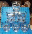 6 MCM 60s RATPACK Libbey Rocks Lowball Glasses History of Auto Graphics Mancave