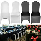 Black White Chair Covers Full Seat Cover Spandex Lycra Stretch Banquet Wedding