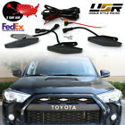 2Day Air 2014+ 4Runner DRL Wire+Screw On 3pcs Wider Raptor WHITE LED Grill Light