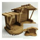 Wooden Nativity Stable L115x W 5x H 65 by Enesco