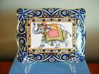 WEDGWOOD Blue Elephant Card Box with porcelain divider with Cards sealed