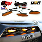 2Day Air DRL Wire + Screw On 3pcs Wider Raptor LED Grill Light For 2014+ 4Runner