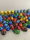 Wooden HAND PAINTED WOODEN Easter Eggs Decoration Lot Of 76 F3