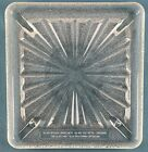 Vintage Barely Used Clear Glass Square Microwave Oven Starburst Tray Plate 125