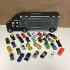 Vintage Hotwheels Diecast Mixed Lot Big Rig Carrying Case Full Cars Trucks Tank