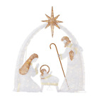 Nativity Scene 55ft LED Light Yard Outdoor Indoor Holiday Christmas Decorations