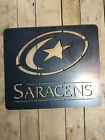 Premium Saracens FC Rugby Football Metal Sign Wall Sign Sports Logo London