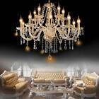 Elegant Crystal Glass Pendant Ceiling Lighting Fixture 6 15 Light Chandelier