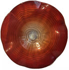 24 LARGE HAND BLOWN GLASS WALL PLATTER WITH FREE WALL HANGER