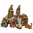 Nativity Set 7 In Resin Figurine Christmas Holiday Decorations 7 Piece NEW
