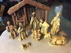 Vintage Christmas Nativity Set 9 Piece Made in Japan Wisemen Baby Jesus Stable