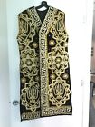 womens hand made by artist gold embroidery uzbek chapan