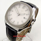 40mm Bliger sterile white dial date sapphire glass automatic Square mens watch