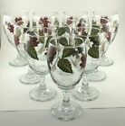 Libbey Fall Leaves Water Goblets 7 Autumn Leaf Glassware Lot of 10