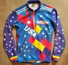 Vintage Skittles USA Cycling Jersey Lance Armstrong Descente Size M
