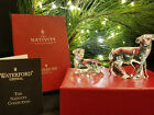 Waterford Crystal The Nativity Collection Sheep Lamb pair in Original Box