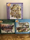 Lot 3 Bits and Pieces 300 piece puzzles Large Shaped Animals Native Americans