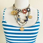 NWT Betsey Johnson Dolphin Sea Charm Necklace Vintage