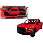 2017 Ford F 150 Raptor Pickup Truck Red with Black Wheels 1 27 Diecast Model Car