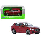 Maserati Levante Red 1 24 1 27 Diecast Model Car by Welly 24078R