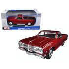 1965 Chevrolet El Camino Metallic Red 1 25 Diecast Model Car by Maisto 31977R