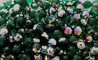 1200 Pcs 6mm Czech Fire Polished Round Faceted Bead DARK EMERALD VITRAIL
