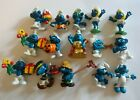 LOT OF 15 VINTAGE SMURFS PVC FIGURES 1970'S & 1980'S USED