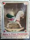 1988 Hallmark Baby's First Christmas Rocking Horse Dated Ornament