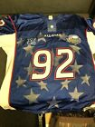 NOS Authentic New York Giants Michael Strahan Blue #92 Pro Bowl Jersey