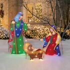 Christmas Pre Lit Nativity Scene Birth Of Jesus Outdoor Xmas Decor LED Light Up