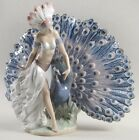 Lladro Feathered Fantasy #05851 New With Box Beautiful Peacock Retired 1996