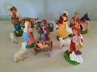 Vintage Italian Nativity Christmas Paper Mache 13 Figures Made In Italy 5