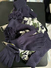 Charles Albert Navy Blue and Green Camouflage Beanie With Matching Gloves 1 set