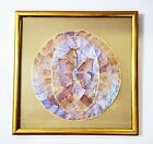 Vintage Framed Taxidermy Butterfly Wings Art Collage Blue Purple Irredescent