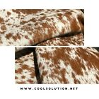 Cowhide Leather Sheets Brown Salt and Pepper Hair on Hide  Cut to size