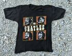vintage rare 60s 70s The Beatles boxes on an all black ringer style t shirt xs s