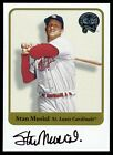 SP 525 AUTO STAN The Man MUSIAL 2001 Fleer Greats Of The Game On-Card Autograph
