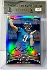 2012 TOPPS CHROME NICK FOLES AUTO # 178 REFRACTOR RC BGS 9 W 10 AUTOGRAPH EAGLES