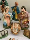1960 VINTAGE NATIVITY SET Hand Painted Japan