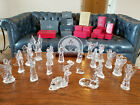 Waterford Crystal Nativity Set 24 pc Original Box Camel Donkey Sheep Angels etc