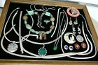 Vintage All Sterling Silver Native American Hopi Mexican Italian Jewelry Lot