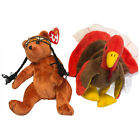 1996 Gobbles The turkey TY Beanie Baby Tag Errors 2004 Little Feather Thxgiving
