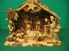 Deluxe Olive Wood Nativity Set with Figures Stable Music  Hand Carved