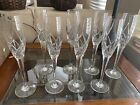 Mikasa Olympus Crystal Champagne Flutes Glass New