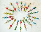 18 ALL Vintage Small Mercury Glass Bead Christmas Icicle Ornaments Garland
