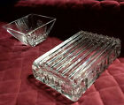 Tiffanyco Crystal Jewlery Trinket Box  Bowl 2pc Set ++ 16 Sterling Necklace