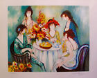 FRANCK L Hand Signed Limited Edition Lithograph TEA PARTY